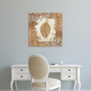 Easy Art Prints Avery Tillmon's 'Gilded Leaf II' Premium Canvas Art