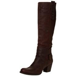 Nine West Women's Crabshack Bootie, Cognac Leather, Size 8.5
