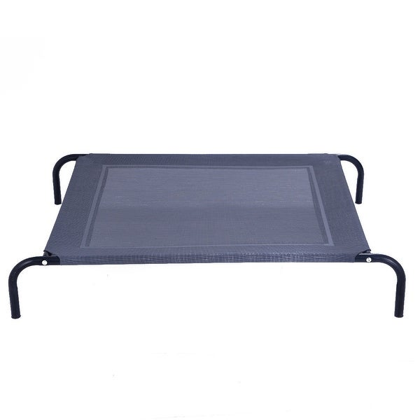 Shop Costway Large Dog Cat Bed Elevated Pet Cot Camping Steel Frame ...