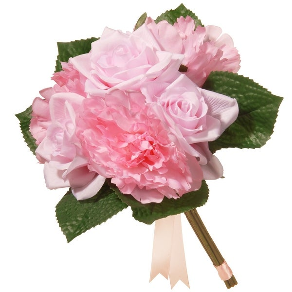 """12.2"""" Mixed Pink Rose and Peony Bouquet - N/A"""
