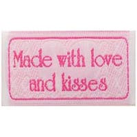 Made With Love And Kisses - Iron-On Lovelabels 4/Pkg