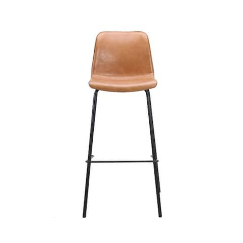 (Set of 2) Erwin Modern PU Leather Bar Stool with Black Metal Legs (2 Color Options)