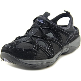 Easy Spirit Earthen Women Round Toe Suede Black Walking Shoe
