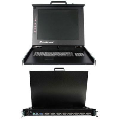 """Startech 1U 17"""" Rackmount Lcd Console With 8 Port Multi-Platform Kvm - Kvm Console 1U Rack Mount With 17In Lcd"""