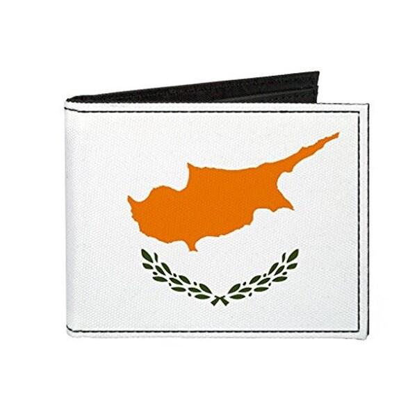 Buckle-Down Canvas Bi-fold Wallet - Cyprus Flag Accessory