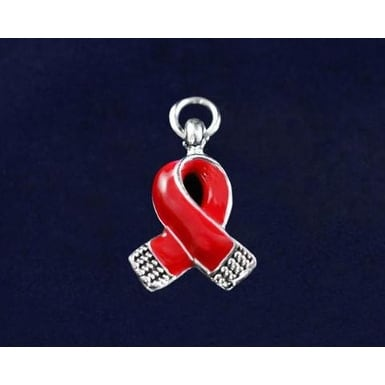 Awareness Causes Red Small Ribbon Charm