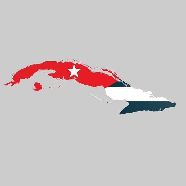 Cuba - Country Flag Decal 1 - 24x24 Peel'N'Stick Wall Art