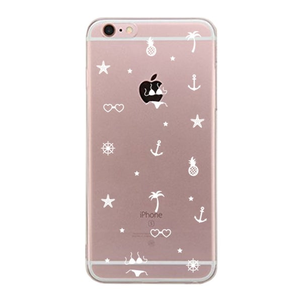 Apple iPhone 6 6S Plus Transparent Scratch Resistant Phone Cover (Summer Pattern)