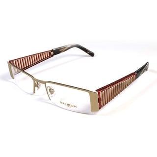 Boucheron Unisex Semi-Rectangle Eyeglasses Red/Gold - S