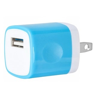 Link to USB Home Wall Charger Travel Adapter for iOS and Android Mobile Devices, Blue Similar Items in Batteries & Chargers