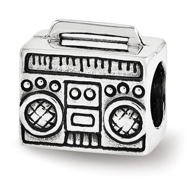 Sterling Silver Reflections Boombox Bead (4mm Diameter Hole)