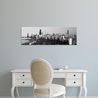 Easy Art Prints Panoramic Image 'Hancock Building, Sears Tower, Lincoln Park, Lake Michigan, Chicago' Canvas Art