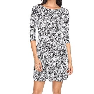 Taylor NEW White Womens Size 14 Floral-Print Jacquard Sheath Dress