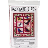 "Backyard Birds Wall Quilt Kit-13""X15"""