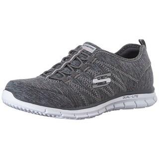 Skechers Sport Women's Electricity Fashion Sneaker, Grey/Aqua