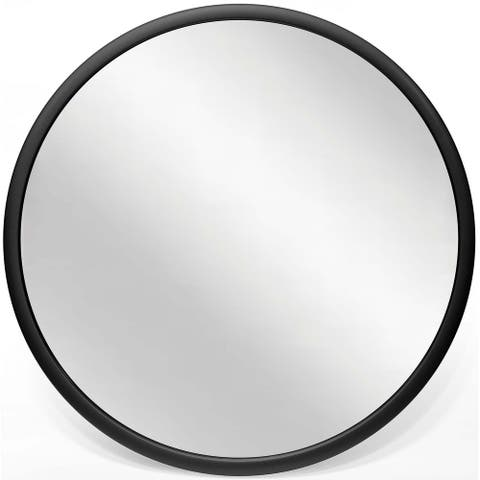 Nera 22 inch Matte Black Hanging Wall Mirror