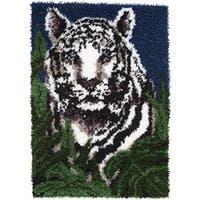 "White Tiger - Wonderart Latch Hook Kit 24""X34"""