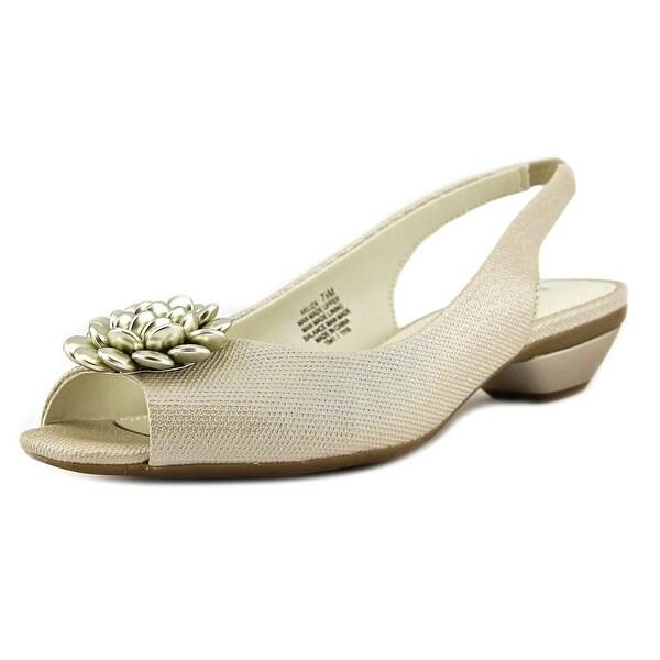c05c61b4e4e7 Shop Anne Klein Liza Open-Toe Synthetic Slingback Sandal - Free ...