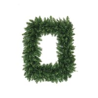 "36"" Buffalo Fir Rectangular Artificial Christmas Wreath - Unlit - green"