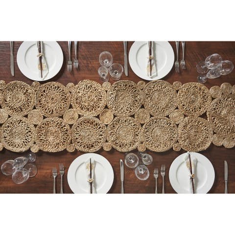 LR Home Natural Jute Rotary Table Runner (1'4 x 6'8) - 1'4 x 6'8