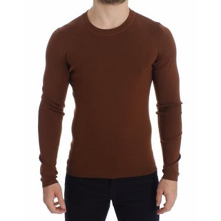 Dolce & Gabbana Dolce & Gabbana Brown Cashmere Crew-neck Sweater Pullover Top