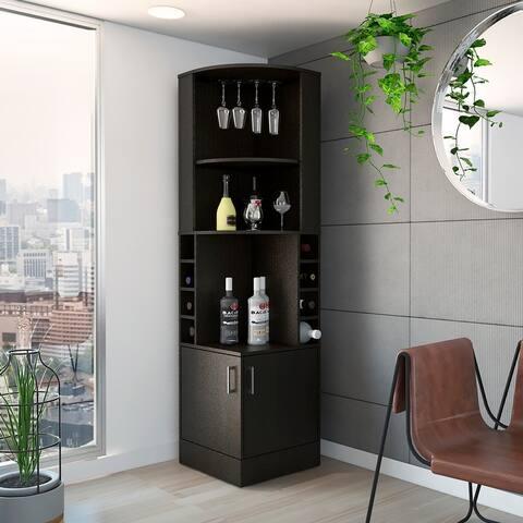 Copper Grove Tumanyan Corner Bar Cabinet - N/A