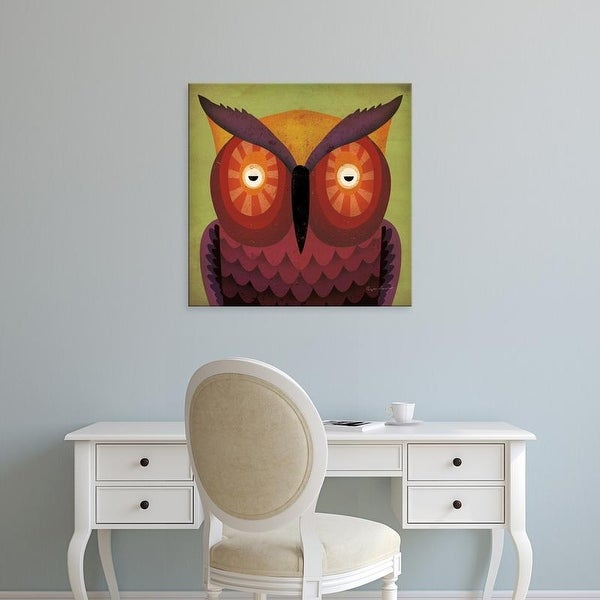 Easy Art Prints Ryan Fowler's 'Owl Wow' Premium Canvas Art