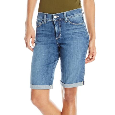 NYDJ Blue Women's Size 16 Bermuda 5-Pocket Cuffed Denim Shorts