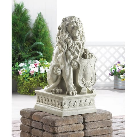 Mojestic Outdoor Ivory Lion Sculpture