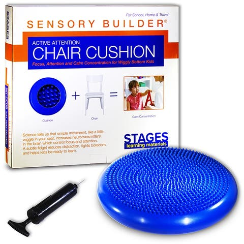 Active Attention Chair Cushion Blue Sensory Builder