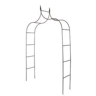Kinbor Outdoor Metal Garden Arch Gothic Arbor Garden Trellis For Climbing Plant 8'4 High x 4'6 Wide