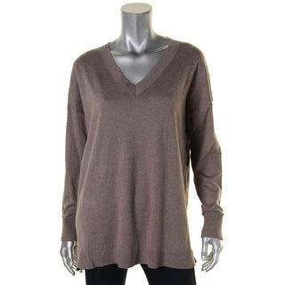 Sutton Studio Womens Tunic Sweater Hi-Low Cuffed Long Sleeves
