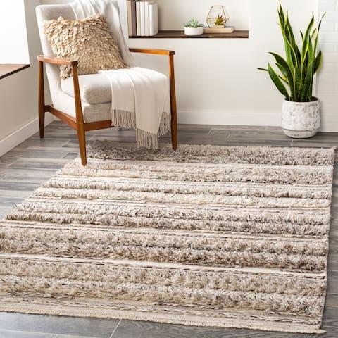 Striata Global Wool/Viscose Hand-Woven Area Rug