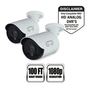 """Night Owl Add-On HD Wired Security Bullet Camera (2-Pack) Add-On FHD Wired Security Bullet Camera - 2 Pack"""