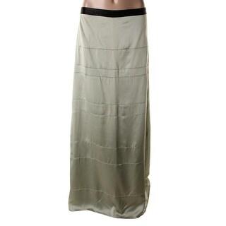 Catherine Malandrino Womens Silk Contrast Trim A-Line Skirt - 4