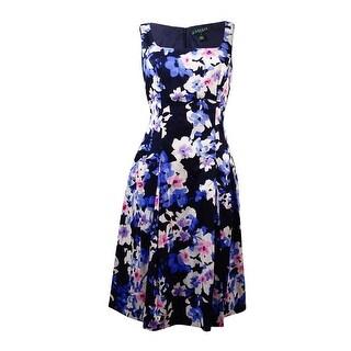 Lauren Ralph Lauren Women's Scoop-Neck Floral Sundress - navy/pink/multi
