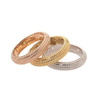Three Layers Of Gold Ring Set