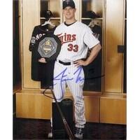 Signed Morneau Justin Minnesota Twins 8x10 Photo autographed