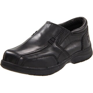 Kenneth Cole Reaction Boys Check N Check 2 Leather Slip On Loafers - Black - 10 m us toddler