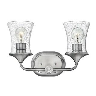 "Hinkley Lighting 51802-CL Thistledown 2 Light 16"" Wide Bathroom Vanity Light with Seedy Glass"