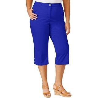 Karen Scott Womens Plus Capri Pants Cropped Twill - 18W