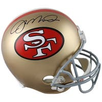 Joe Montana signed San Francisco 49ers Replica TB Mini Helmet MontanaTriStar Holograms