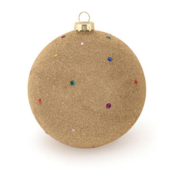 """Gold Beaded and Jeweled Glass Ball Christmas Ornament 4.75"""" (120mm)"""