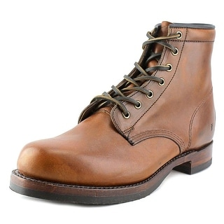Frye John Addison Lace Up Men Round Toe Leather Brown Work Boot