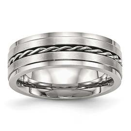 Stainless Steel Brushed and Polished Twisted 7 mm Band Ring - Sizes 7 - 13|https://ak1.ostkcdn.com/images/products/is/images/direct/0a532cd744d62f5dfbdcf0af964e7358739d43be/Stainless-Steel-Brushed-and-Polished-Twisted-7-mm-Band-Ring---Sizes-7---13.jpg?impolicy=medium