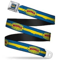 Mopar 1937 1947 Logo Full Color Blue Yellow Red Mopar 1937 1947 Logo Seatbelt Belt