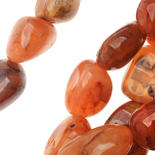 Orange Red Yellow Fire Cherry Agate Large Nugget Beads /15.5 Inch Strand