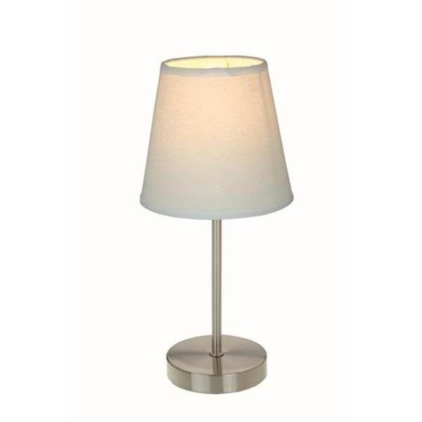 All The Rages Lt2017 Wht Sand Nickel Basic Table Lamp With White Shade