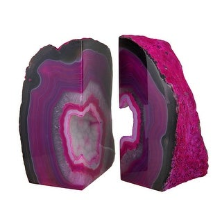 Large Polished Pink Brazilian Agate Geode Bookends 7-11 Pounds