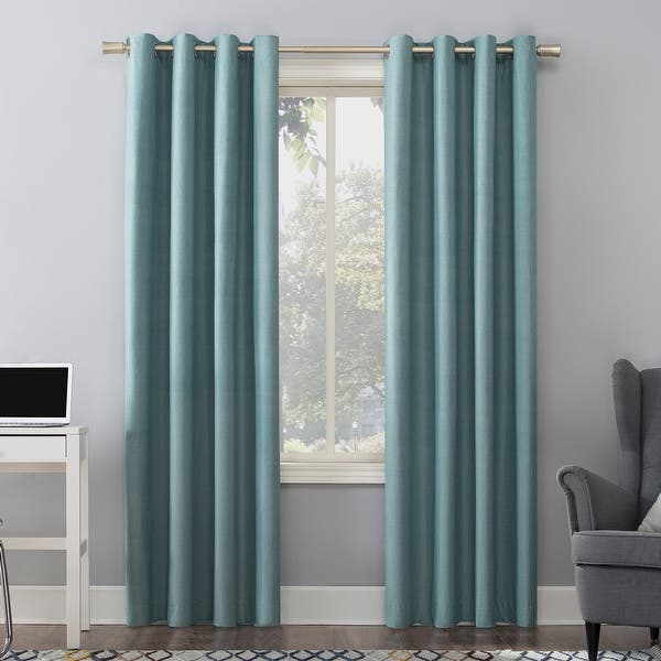 Sun Zero Duran Thermal Insulated Total Blackout Grommet Curtain Panel On Sale Overstock 28359729